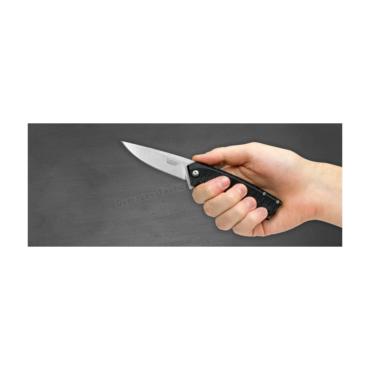 """มีดพับ Kershaw Entropy Assisted Opening Flipper Knife (3.25"""" Stonewash) 1885"""