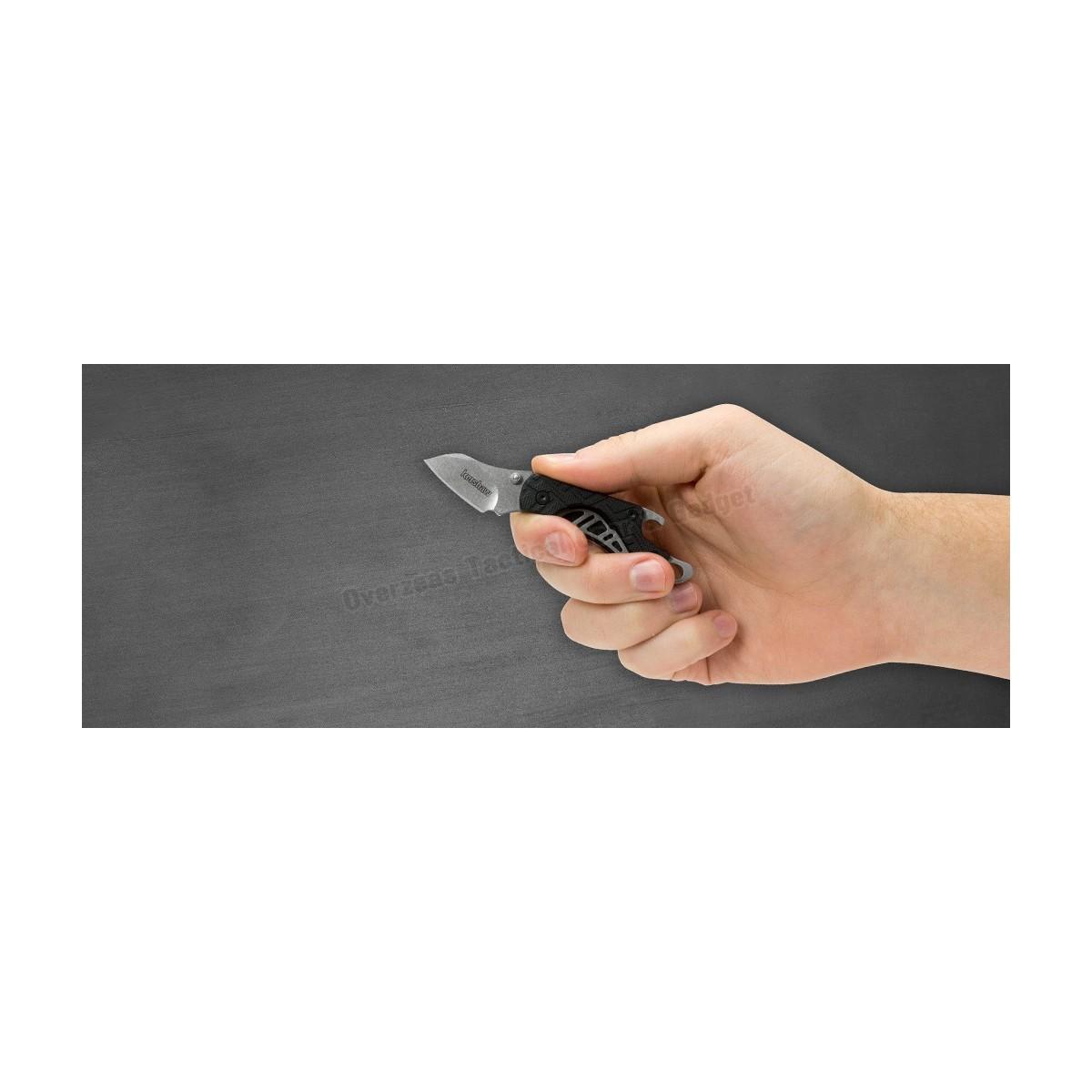 """มีดพับห้อยพวงกุญแจ Kershaw Cinder Keychain Knife Bottle Opener (1.4"""" Stonewash) 1025"""