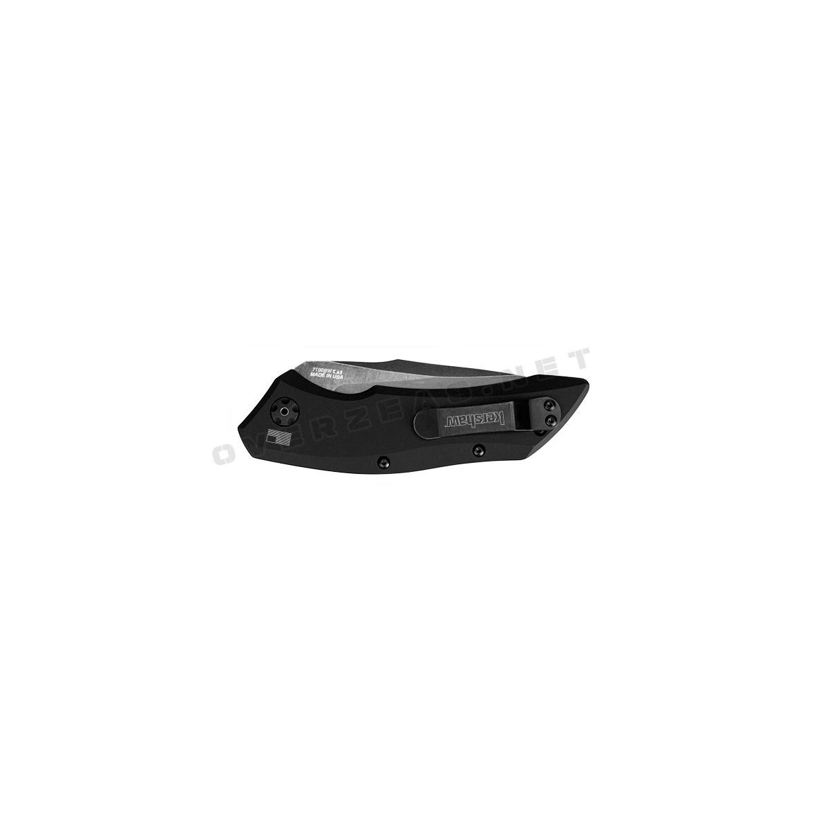 """มีดออโต้ Kershaw Launch 1 Automatic Knife Black Aluminum (3.4"""" BlackWash) 7100BW"""