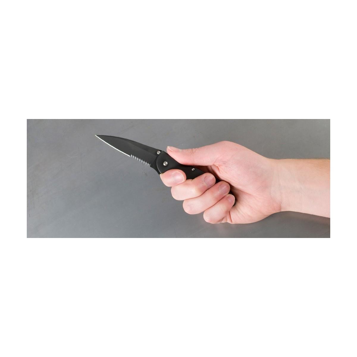 """มีดพับ Kershaw Leek Assisted Opening Knife (3"""" Black Serr) 1660CKTST"""