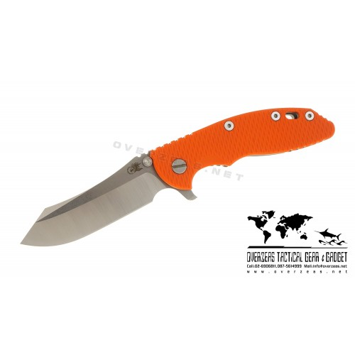 "มีดพับ Hinderer Knives XM-18 2016 LE Skinner Frame Lock Knife Orange (3.5"" Satin/SW)"