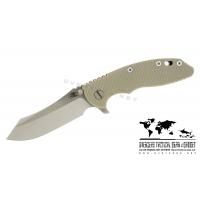 """มีดพับ Hinderer Knives XM-18 2016 LE Skinner Frame Lock Knife Tan (3.5"""" Satin/SW)"""