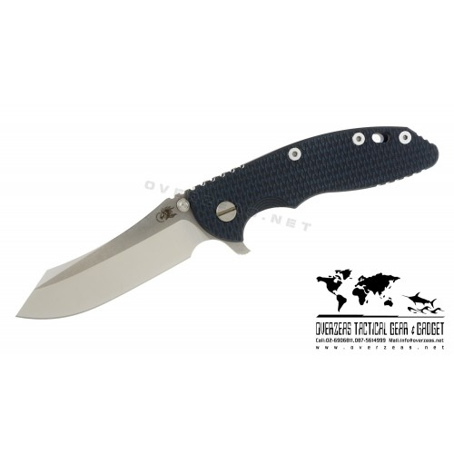 "มีดพับ Hinderer Knives XM-18 2016 LE Skinner Frame Lock Knife Blue/Black (3.5"" Satin/SW)"