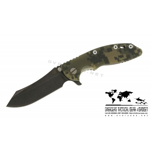 "มีดพับ Hinderer Knives XM-18 Skinner Flipper Working finish Camo G-10 (3.5"" Black SW)"