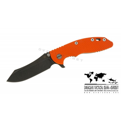 "มีดพับ Hinderer Knives XM-18 Skinner Flipper Working finish Orange G-10 (3.5"" Black SW)"