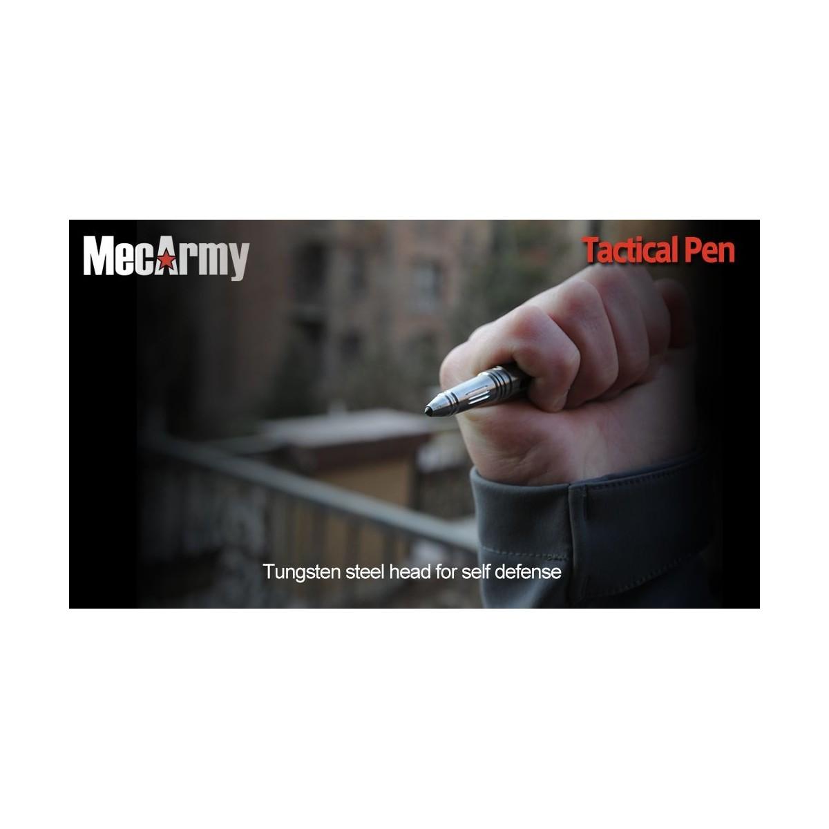 ปากกา MecArmy Titanium Tactical Pen สำหรับใช้งานทั่วไป และใช้ป้องกันตัว  (TPX22)