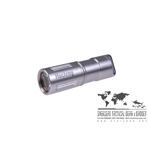 ไฟฉายขนาดเล็ก ห้อยพวงกุญแจ MecArmy IllumineX-2 ฺStainless Flashlight CREE XP-G2 130 Lumens,(ILLUMINE-X2-)