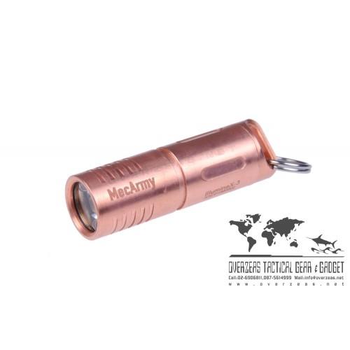 ไฟฉายขนาดเล็ก ห้อยพวงกุญแจ MecArmy IllumineX-2 ฺบอดี้ทองแดง (Copper) Flashlight CREE XP-G2 130 Lumens,(ILLUMINEX-3-COPPER)