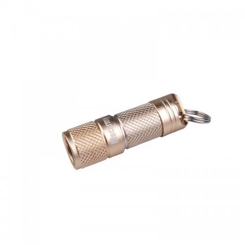 ไฟฉายขนาดเล็ก ห้อยพวงกุญแจ MecArmy illumineX-4 บอดี้อลูมินั่ม สีทอง Flashlight CREE XP-G2 130 Lumens,(ILLUMINEX-4-GOLD)