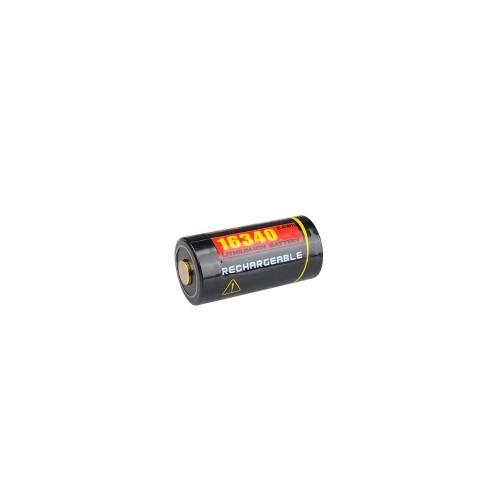 แบตเตอรี่ MecArmy Li-ion ขนาด 16340 2600mAh/3.6V/2.8Wh (LG Cell),M163