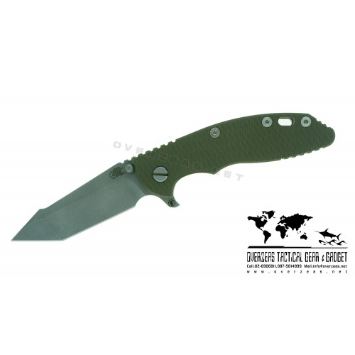 "มีดพับ Hinderer Knives XM-18 3.5"" Fatty Harpoon 2016 OD Green G-10 (3.5"" Stonewash)"