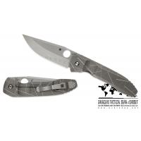 """มีดพับ Spyderco Rassenti Nirvana Integral Frame Lock Knife (3.75"""" Satin) C199TIP"""