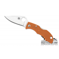 "มีดพับ Spyderco Ladybug 3 HAP40 Burnt Orange FRN (1.94"" Satin),LBORP3E (2016 Sprint Run)"