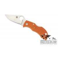 """มีดพับ Spyderco ManBug HAP40 Lightweight Burnt Orange FRN (1.95"""" Satin),MBORPE (2016 Sprint Run)"""