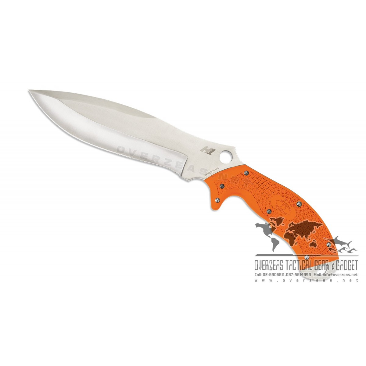 """มีดใบตาย Spyderco Schempp Rock Salt H1 Fixed Blade Knife Orange (6.75"""" Satin) FB20FPOR (2016 Sprint Run)"""