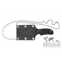 """มีดห้อยคอ Spyderco Shirley-Owens ARK Fixed Blade Neck Knife (2.63"""" Satin H1) FB35PBK"""