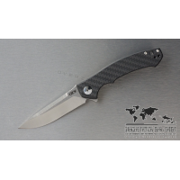 "มีดพับ Zero Tolerance 0450CF Flipper Knife Carbon Fiber (3.25"" Black) 0450CF"