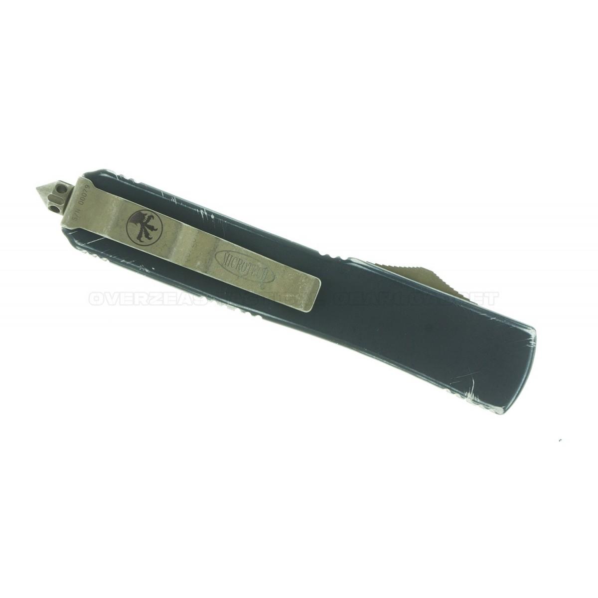 """มีดออโต้ Microtech Spartan Ultratech Molon Labe S/E OTF Automatic Knife (3.4"""" Bronze) 121-13ML"""