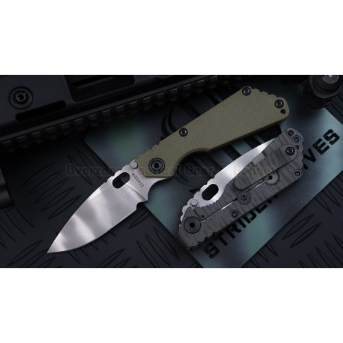 "มีดพับ Strider SNG Frame Lock Knife OD Green G-10 (3.5"" CTS40CP Tiger Stripe)"