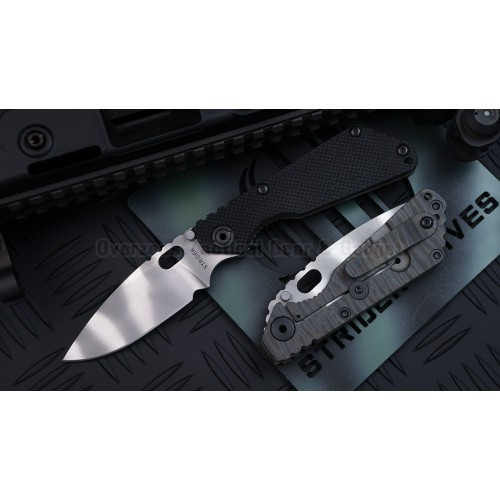 "มีดพับ Strider SNG Frame Lock Knife Black G-10 (3.5"" CTS40CP Tiger Stripe)"
