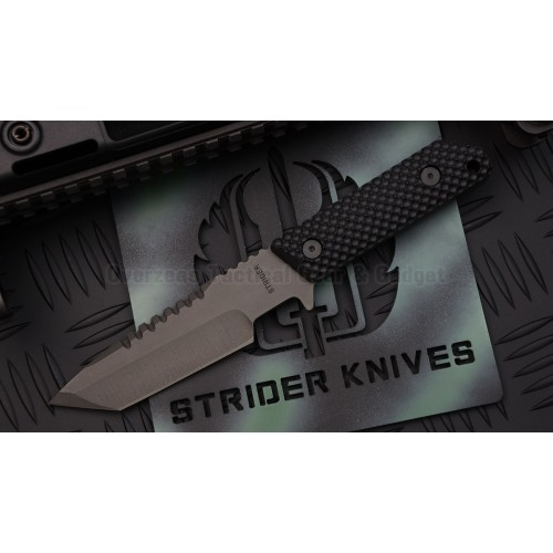 มีดใบตาย Strider Knives Fixed: HT-T (Tanto) Gunner Grip Black G-10