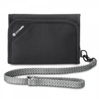 กระเป๋าสำหรับใส่บัตร-เงิน RFIDsafe™ V125 (Black) RFID blocking tri-fold wallet