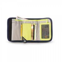 กระเป๋าสำหรับใส่บัตร-เงิน RFIDsafe™ V125 (Navy) RFID blocking tri-fold wallet