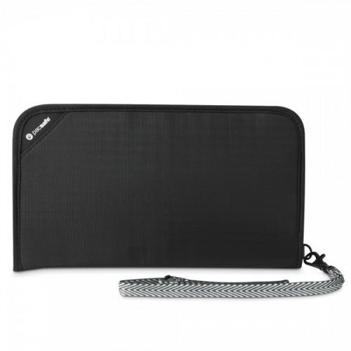 กระเป๋าสำหรับใส่บัตร-เงิน RFIDsafe™ V200 (Black) RFID blocking travel organiser