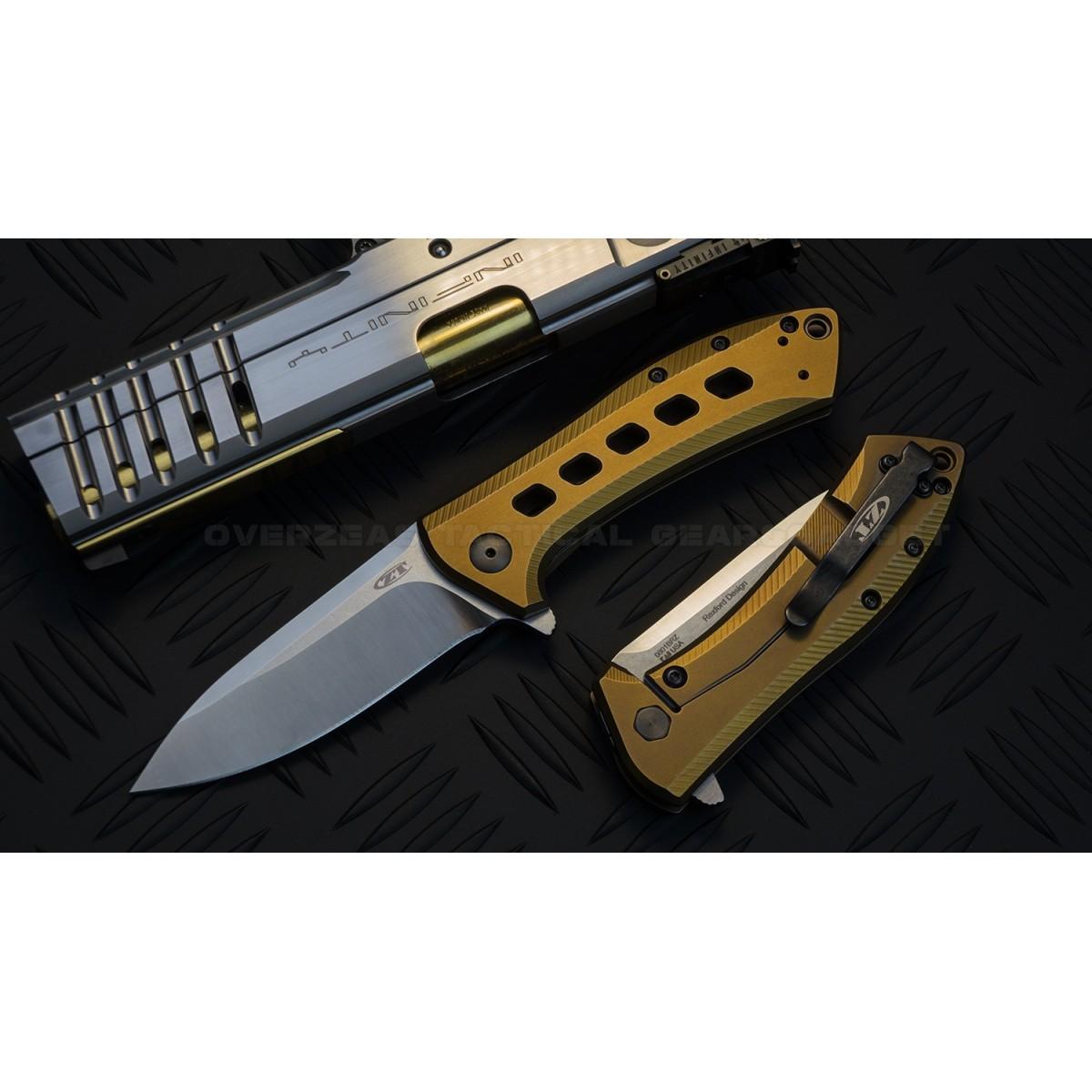 มีดพับ ZT (Zero Tolerance) 0801BRZ M390 Design by Todd Rexford * LIMITED *