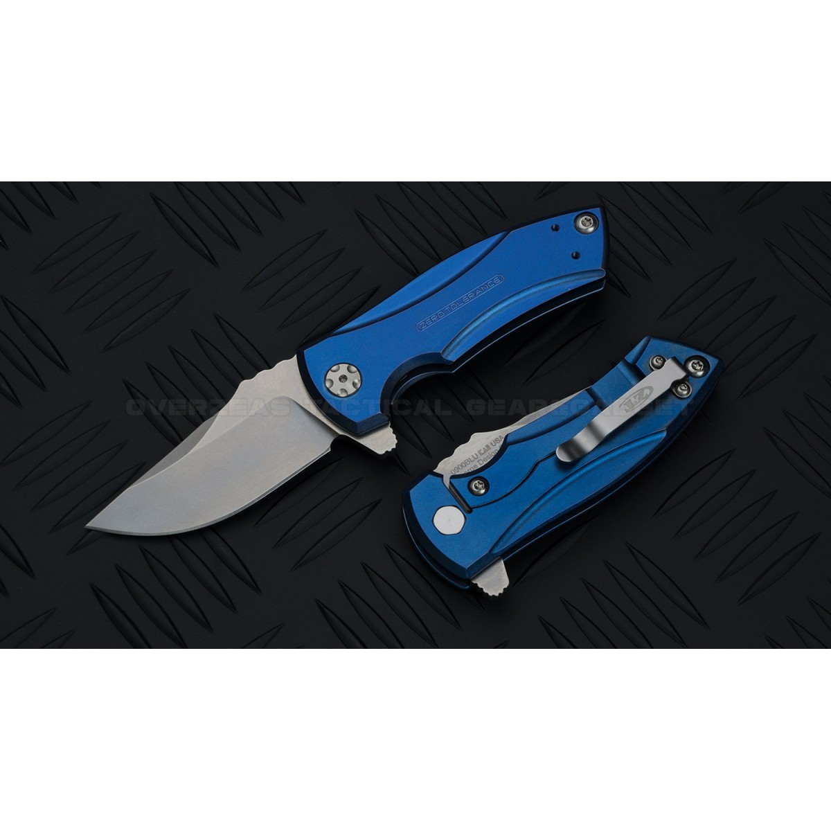 มีดพับ ZT (Zero Tolerance) 0900BLU Blue Anodized Les George Design * SPRINTRUN *