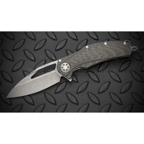 "มีดพับ Marfione Custom Matrix R Flipper Knife Carbon Fiber (3.75"" Apoclyptic finish)"