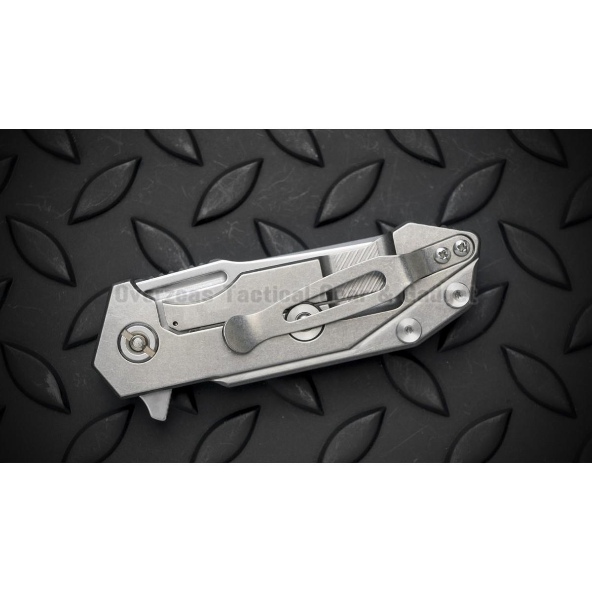 """มีดพับ Hinderer Knives Half-Track Frame Lock Knife Titanium (2.75"""" Stonewash),HALF-TRACK-SW"""