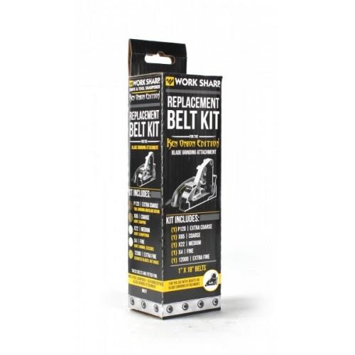 สายพานอะไหล่สำหรับ WORK SHARP Ken Onion ที่ใส่ Blade Grinding Attachment Assorted Belt Kit แพครวม 5เส้น/5เบอร์ (WSSAKO81115)