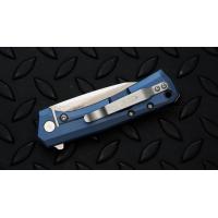 """มีดพับรุ่นพิเศษ Zero Tolerance 0808BLU Flipper Knife Blue Titanium (3.25"""" Satin),ZT0808BLU *SPRINTRUN*"""