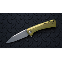 "มีดพับรุ่นพิเศษ Zero Tolerance 0808GLD Flipper Knife Gold Titanium (3.25"" Satin),ZT0808GLD *SPRINTRUN*"