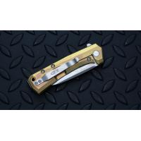 """มีดพับรุ่นพิเศษ Zero Tolerance 0808GLD Flipper Knife Gold Titanium (3.25"""" Satin),ZT0808GLD *SPRINTRUN*"""