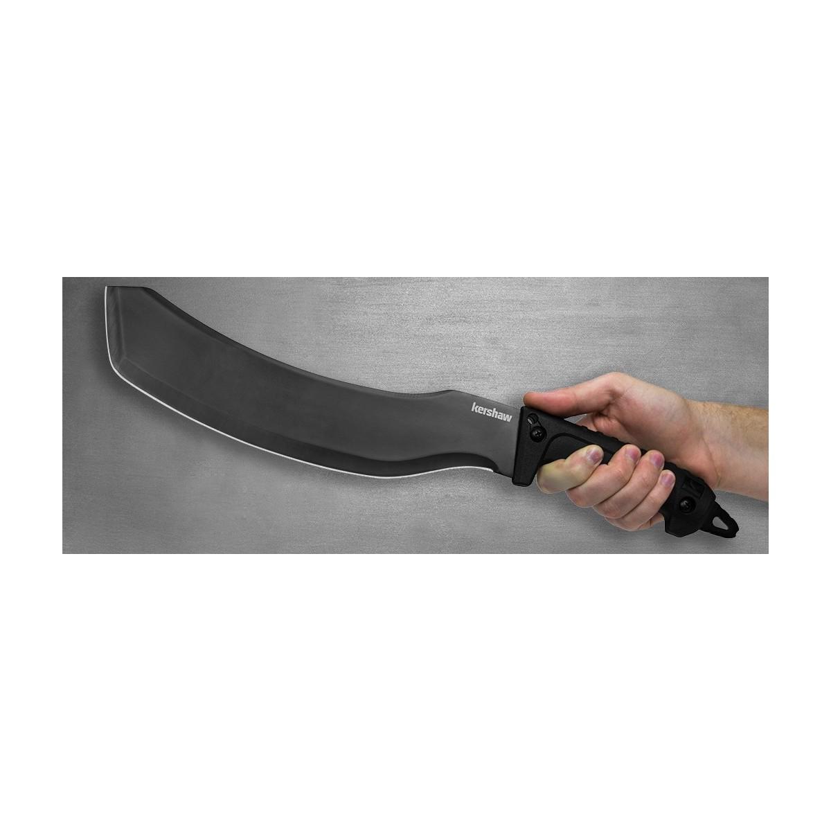 """มีดใบตาย Kershaw Camp 12 Fixed Blade Knife Parang (12"""" Black),1072X"""