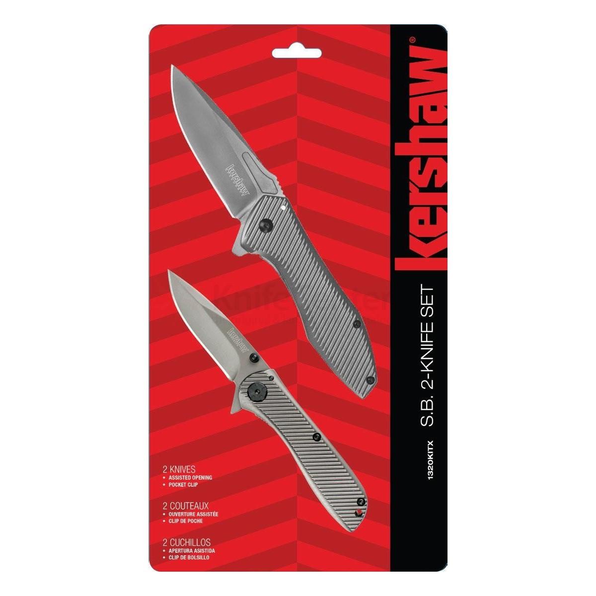 แพคสุดคุ้ม Kershaw 2 Piece Assisted Opening S.B. Flipper Knife Set (1320KITX)