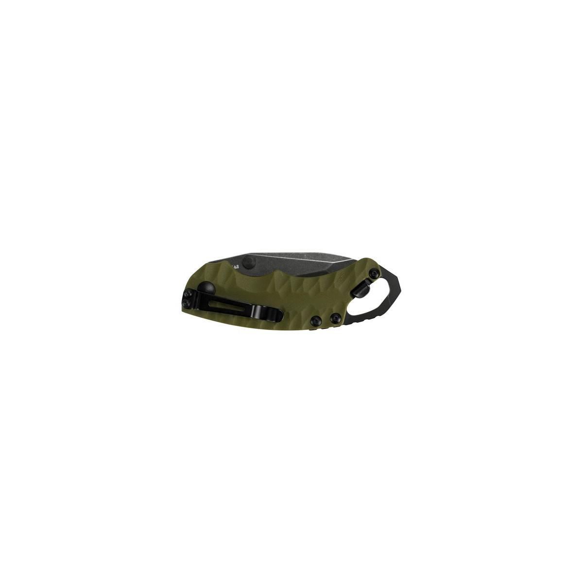 """มีดพับ Kershaw Shuffle II Tanto Liner Lock Knife OD Green (1.6"""" BlackWash) 8750TOLBW"""