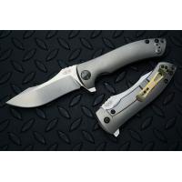 """มีดพับ Zero Tolerance Les George 0920 Flipper Knife Titanium (3.9"""" Stonewash),ZT0920"""