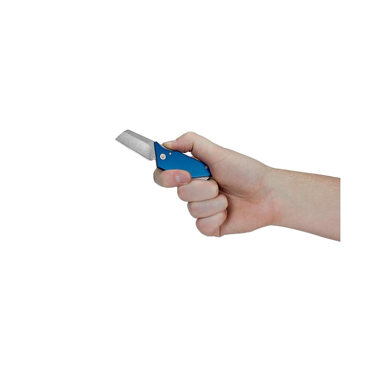 """มีดพับ Kershaw Sinkevich Pub Friction Lock Knife Blue (1.6"""" Stonewash) 4036BLU"""