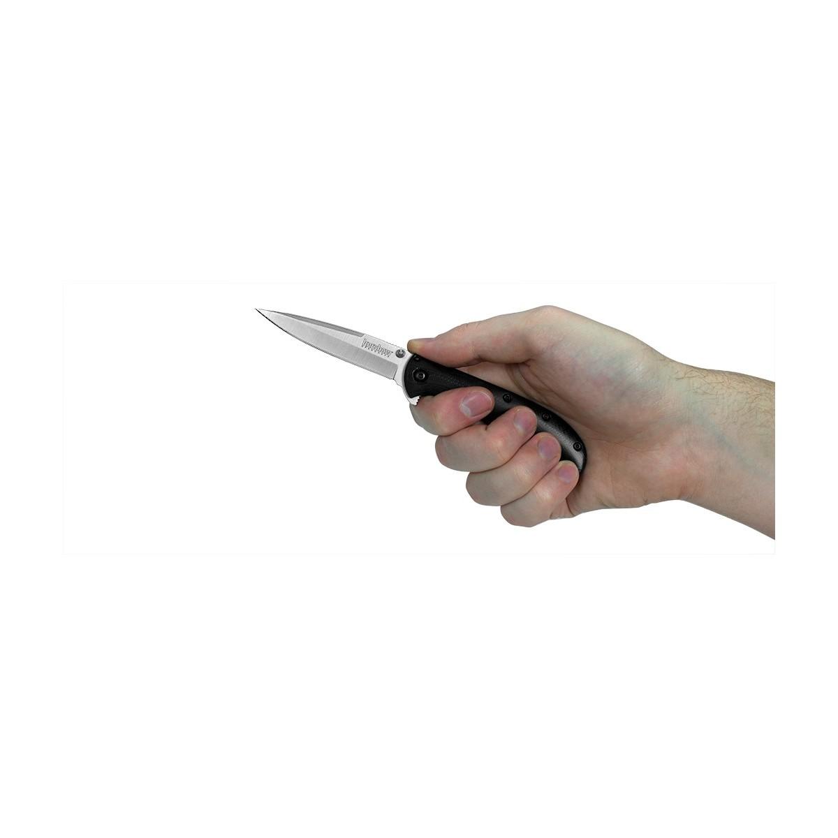 """มีดพับ Kershaw Al Mar AM-3 Assisted Opening Knife Black G-10 (3"""" Satin),2335"""