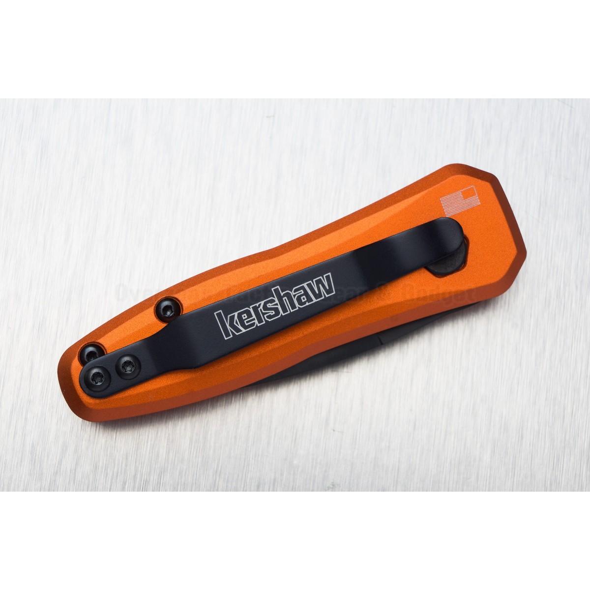 """มีดออโต้ Kershaw Launch 4 CA Legal Automatic Knife Orange (1.9"""" Black) 7500OR *Sprint run*"""