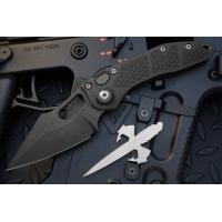 """มีดออโตเมติค (Side opening) มีดออโต้ Microtech Stitch Automatic Knife Black (3.75"""" Apocalyptic DLC),169-1DLC"""