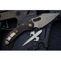 """มีดออโตเมติค (Side opening) Microtech Stitch Automatic Knife Black (3.75"""" Bronze Apocalyptic),169-13"""