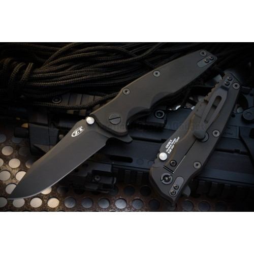 "มีดพับรุ่นพิเศษ Zero Tolerance Rick Hinderer 0392BLK Factory Custom Knife (3.5"" DLC),0392BLK *LIMITED*"
