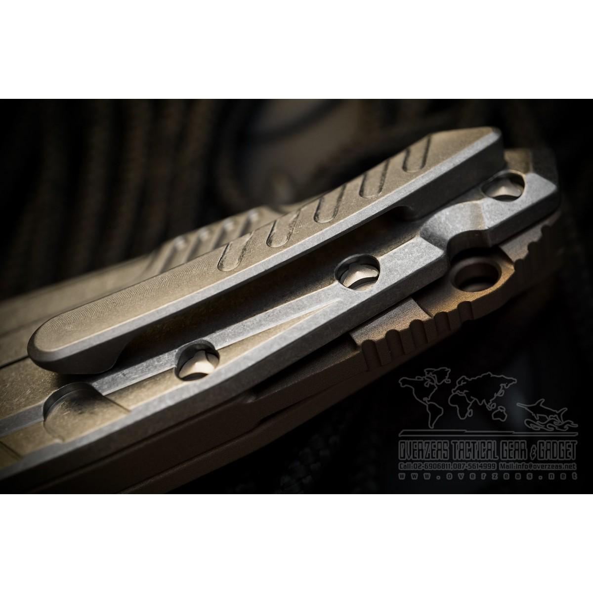มีดพับ Microtech Sigil MK6 Frame Lock Tan Stonewash (196-10TA)