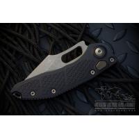 """มีดออโตเมติค (Side opening) Microtech Stitch Automatic Knife Black (3.75"""" Bronze Partial Serrate Apocalyptic),169-14"""