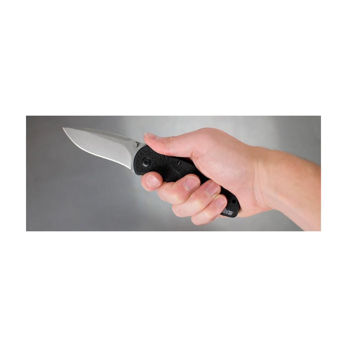 """มีดพับ Kershaw Blur Assisted Opening Knife S30V (3.375"""" Stonewash) 1670S30V"""