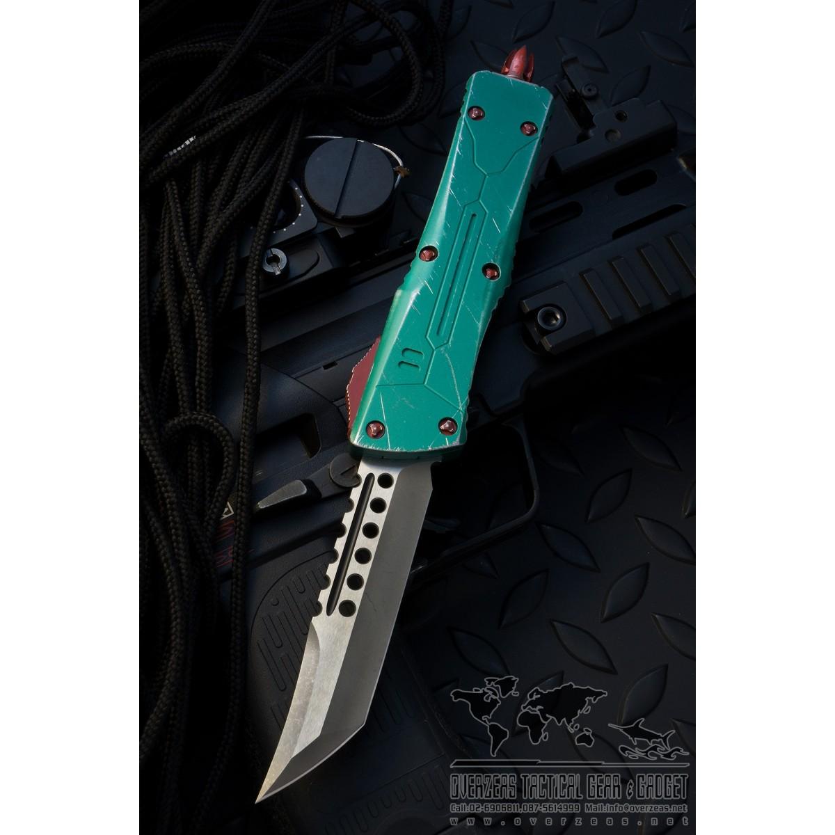 มีดออโต้ Microtech Combat Troodon Hellhound Tanto Bounty Hunter OTF Knife (Apocalyptic) 219-10BH